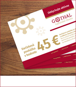 Darčeková poukážka v hodnote 45€
