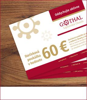 Darčeková poukážka v hodnote 60€