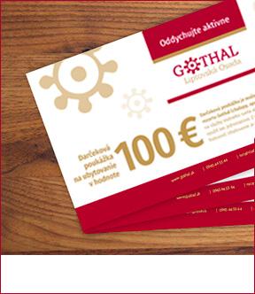 Darčeková poukážka na ubytovanie v hodnote 100€