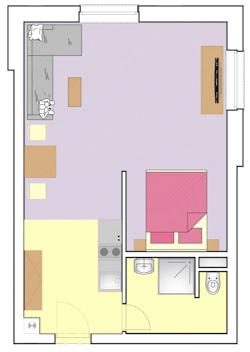 Podorys Double apartmanu v Gothale blízko strediska Donovaly